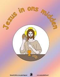 Kleurplaat Jezus in ons midden