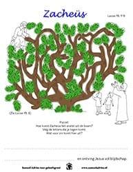 Werkje - Help Zacheüs uit de boom
