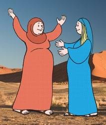 4e Zondag van de Advent jaar C - Vertelplaat