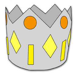 Driekoningen kroon. (AK585)