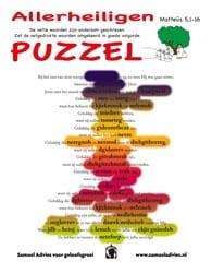 Hoogfeest van Allerheiligen - Puzzel