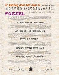 3e Zondag door het jaar A - Puzzel