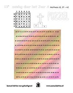 13e Zondag door het jaar A - Puzzel