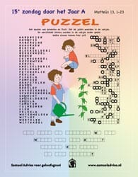 15e Zondag door het jaar A - Puzzel