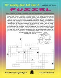 20e Zondag door het jaar A - Puzzel