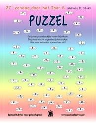 27e Zondag door het jaar A - Puzzel