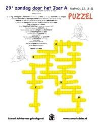 29e Zondag door het jaar A - Puzzel