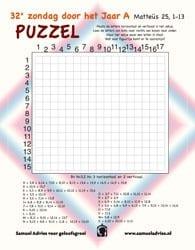 32e Zondag door het Jaar A - Puzzel