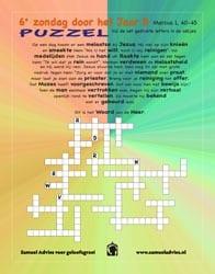6e Zondag door het jaar B - Puzzel