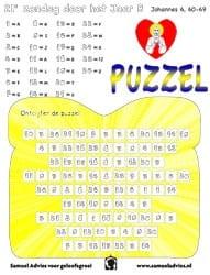 21e Zondag door het jaar B - Puzzel