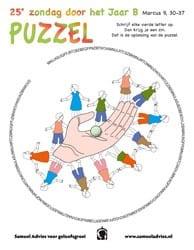 25e Zondag door het jaar B - Puzzel