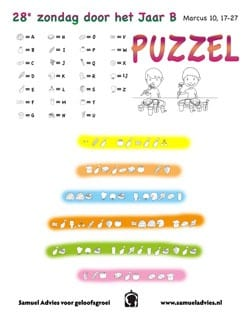 28e Zondag door het jaar B - Puzzel