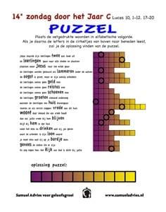 14e Zondag door het Jaar C - Puzzel