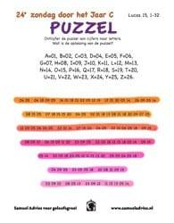 24e Zondag door het jaar - Puzzel