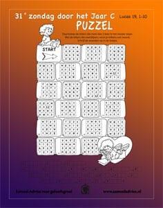 31e Zondag door het jaar C - Puzzel