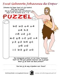 Feest Johannes de Doper - puzzel