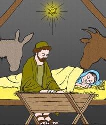 Geboorte van de Heer - Kerstmis - Vertelplaat