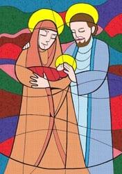 Kerstmis - Geboorte van de Heer - Vertelplaat