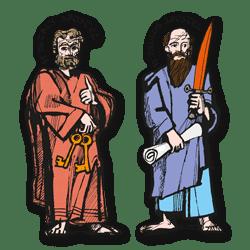 Feest HH. Petrus en Paulus - Vertelplaat
