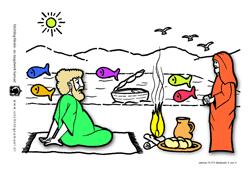Werkje - Jezus bij het meer van Tiberias