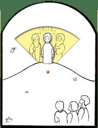 Jezus op de berg Tabor (VP681)