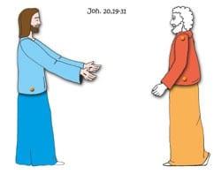 Knutselwerkje over de ongelovige Thomas