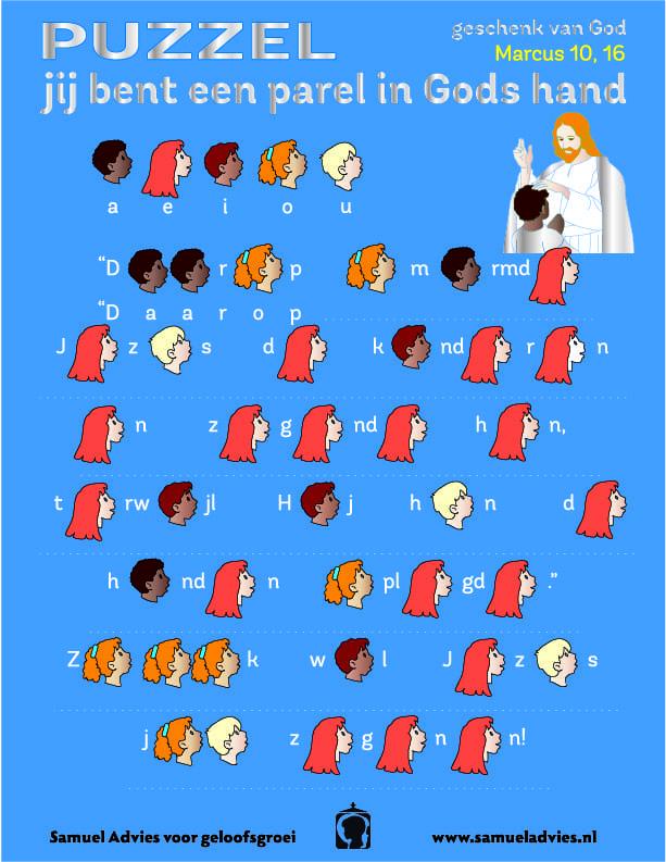 puzzel jezus zegent de kinderen samuel advies