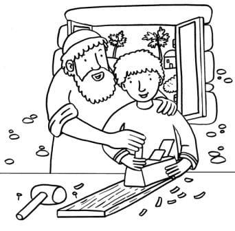 Heilige Jozef - met Jezus